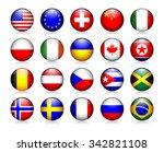 popular flag glossy icons set   Shutterstock .eps vector #342821108