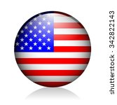 usa glossy icon | Shutterstock .eps vector #342822143