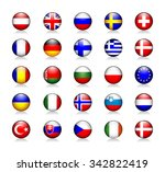 europe glossy icons set | Shutterstock .eps vector #342822419