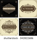 vintage logo templates with... | Shutterstock .eps vector #342822686