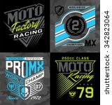 pro motocross racing emblem... | Shutterstock .eps vector #342823064