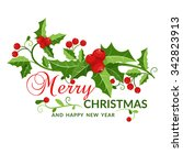 christmas and new year card...   Shutterstock .eps vector #342823913