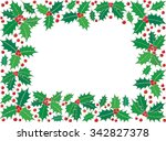 holly christmas symbol... | Shutterstock .eps vector #342827378