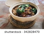a yummy dish called clay pot... | Shutterstock . vector #342828470