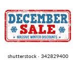 december sale grunge rubber... | Shutterstock .eps vector #342829400