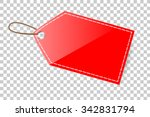 red shining blank tag