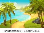 Tropical Beach  Vector...