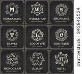 set of vector luxury...   Shutterstock .eps vector #342843524