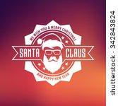 vector hipster santa claus... | Shutterstock .eps vector #342843824