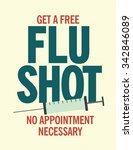 get a free flu shot health care ... | Shutterstock .eps vector #342846089
