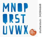 paper font | Shutterstock .eps vector #342846668