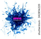 blue explosion isolated on... | Shutterstock .eps vector #342856220