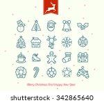 Retro Vintage Christmas Icon...