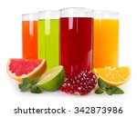 collection of fresh fruit... | Shutterstock . vector #342873986
