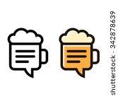beer mug line icon with stylish ...
