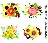 flower set | Shutterstock .eps vector #342883703