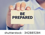 Be Prepared  Message On...