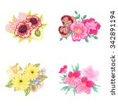 flower set | Shutterstock .eps vector #342891194