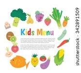 kids and children meal menu...   Shutterstock .eps vector #342891509