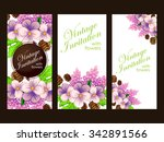 wedding invitation cards with... | Shutterstock .eps vector #342891566