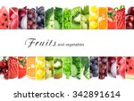 fresh color fruits and... | Shutterstock . vector #342891614