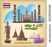 sukhothai  landmark thailand | Shutterstock .eps vector #342896060