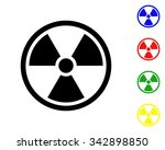 radioactivity icon   vector...   Shutterstock .eps vector #342898850