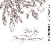 christmas background with fir... | Shutterstock .eps vector #342903479