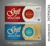 luxury gift voucher template...   Shutterstock .eps vector #342906266