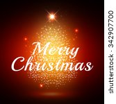 merry christmas design with... | Shutterstock . vector #342907700