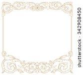 premium gold vintage baroque...   Shutterstock .eps vector #342908450