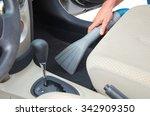 closeup of a man vacuuming a... | Shutterstock . vector #342909350