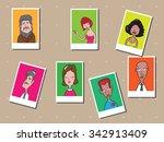 people men and women cartoon... | Shutterstock .eps vector #342913409