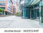 empty ground front of buildings | Shutterstock . vector #342921449