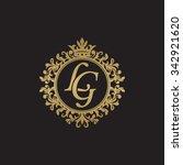 lg initial luxury ornament... | Shutterstock .eps vector #342921620
