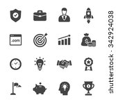 business icons | Shutterstock .eps vector #342924038