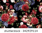 seamless floral pattern with...   Shutterstock . vector #342929114