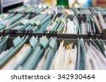 file folders in a filing cabinet | Shutterstock . vector #342930464