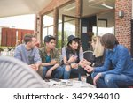 group of young multiethnic... | Shutterstock . vector #342934010