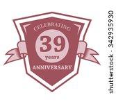 anniversary set vector template | Shutterstock .eps vector #342935930