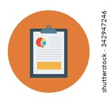 graph report colored vector... | Shutterstock .eps vector #342947246