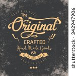 vintage typography for apparel | Shutterstock .eps vector #342947906