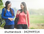 a portrait of two young asian... | Shutterstock . vector #342949514