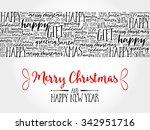 merry christmas. christmas... | Shutterstock . vector #342951716