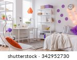 photo of comfortable bed and... | Shutterstock . vector #342952730