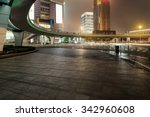 night scene of modern city | Shutterstock . vector #342960608