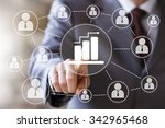 man with web chart online... | Shutterstock . vector #342965468