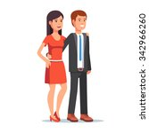 smiling beautiful couple. young ... | Shutterstock .eps vector #342966260