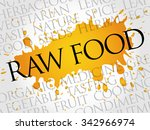raw food word cloud concept | Shutterstock .eps vector #342966974