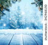 christmas background with... | Shutterstock . vector #342968150